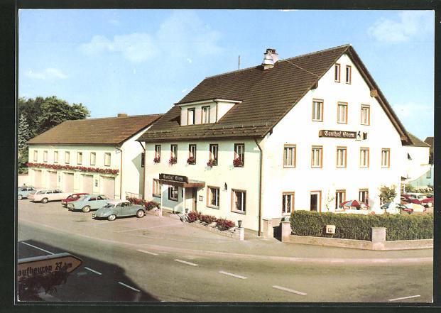 AK Mindelheim, Strassenpartie am Gasthaus zum Stern 0