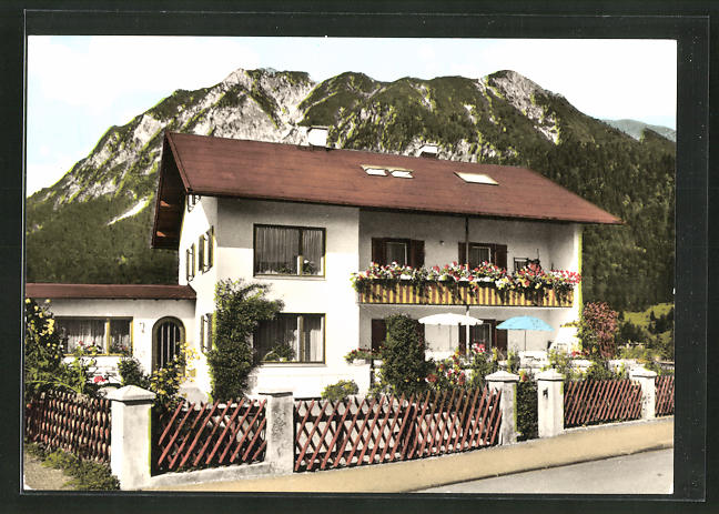 AK Oberstdorf, Hotel-Fremdenheim Dressler, Trettachstrasse 29 0