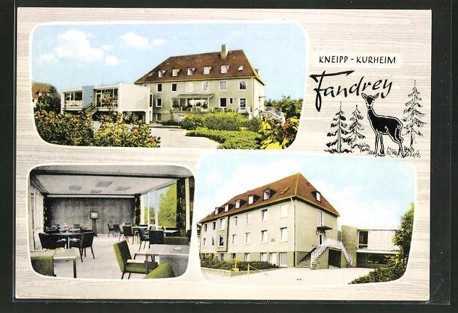 AK Bad Iburg, Hotel-Kneipp-Kurheim Fandrey, Von Wartenberg Strasse 9 0