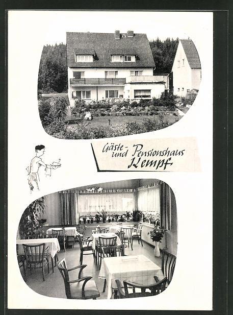 AK Neuhaus im Solling, Hotel Kempf, Derentaler Strasse 41 0