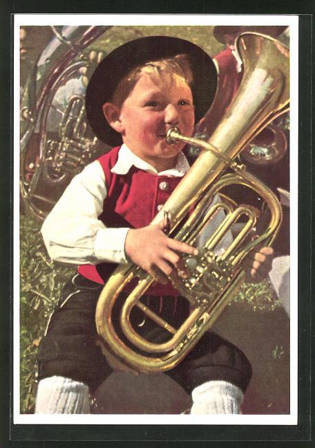 AK Buxheim, Trompeterbüble in erneuerter Tracht 0