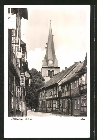 AK Northeim, Strassenpartie an der Kirche 0