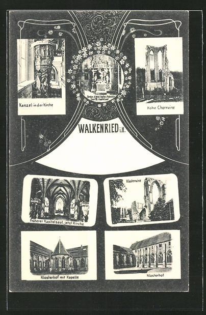 AK Walkenried i. H., Kanzel in der Kirche, Klosterruine, Klosterhof 0