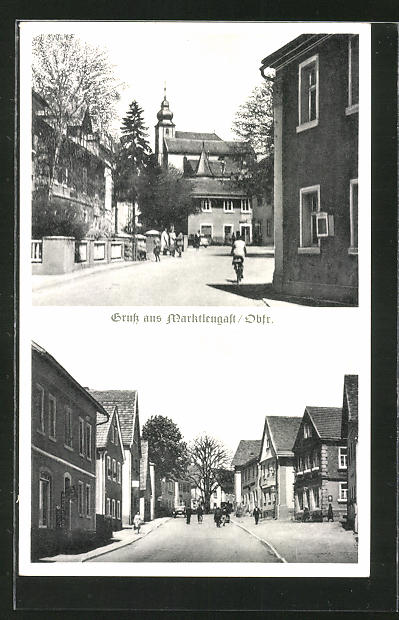 AK Marktleugast / Obfr., Strassenpartie im Ort 0