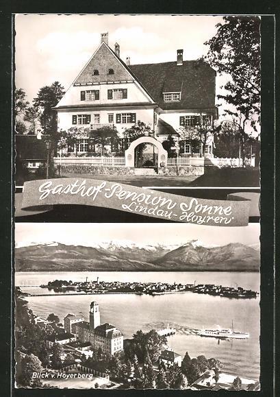 AK Lindau-Hoyren, Gasthaus & Pension Sonne, Blick vom Hoyerberg 0