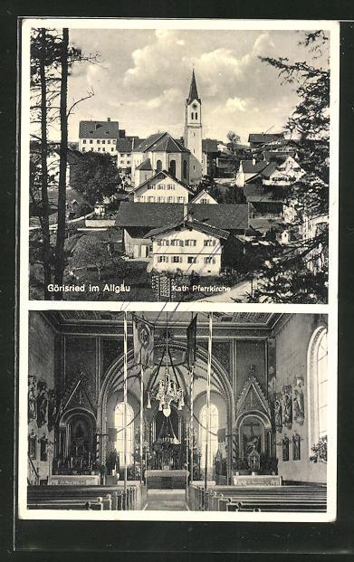 AK Görisried / Allgäu, Kath. Pfarrkirche, Innenansicht 0
