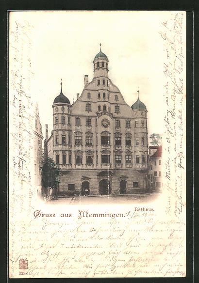 AK Memmingen, Partie am Rathaus 0