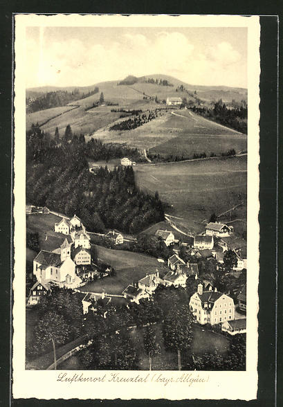 AK Kreuztal / Bayr. Allgäu, Gesamtansicht aus der Vogelschau 0