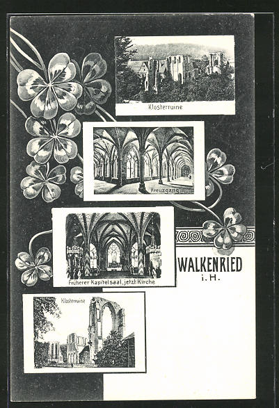 AK Walkenried, Klosterruine, Kreuzgang 0