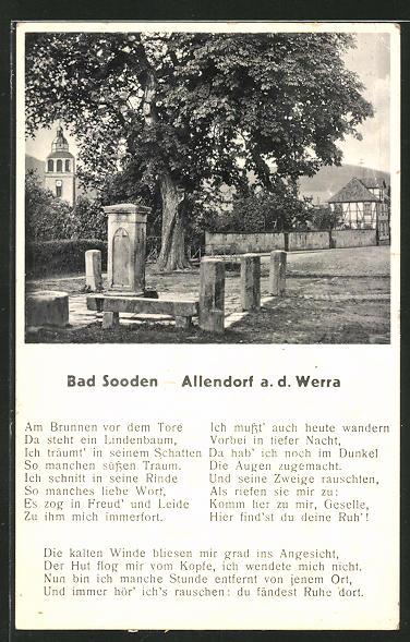 AK Bad Sooden-Allendorf, Partie am Zimmersbrunnen 0