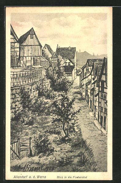 AK Allendorf, Blick in die Fischerstad 0