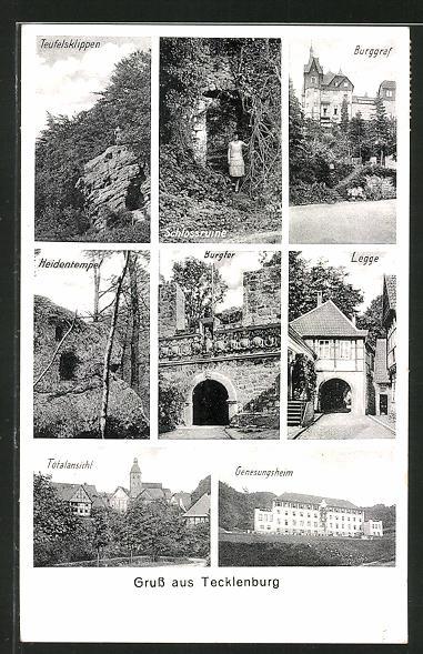 AK Tecklenburg, Teufelsklippen, Burggraf, Heidentempel 0