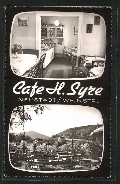 AK Neustadt, Café Syre, Haardterstrasse, Totalansicht 0