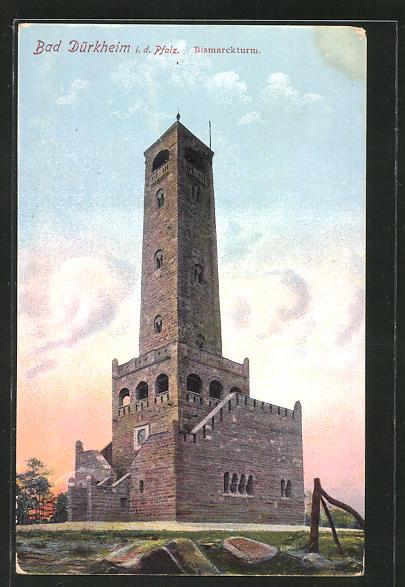 AK Bad Dürkheim, Partie am Bismarckturm 0