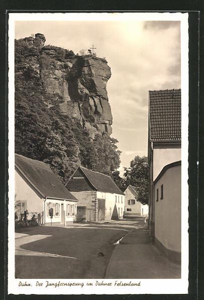 AK Dahn, Jungfernsprung im Dahner Felsenland 0