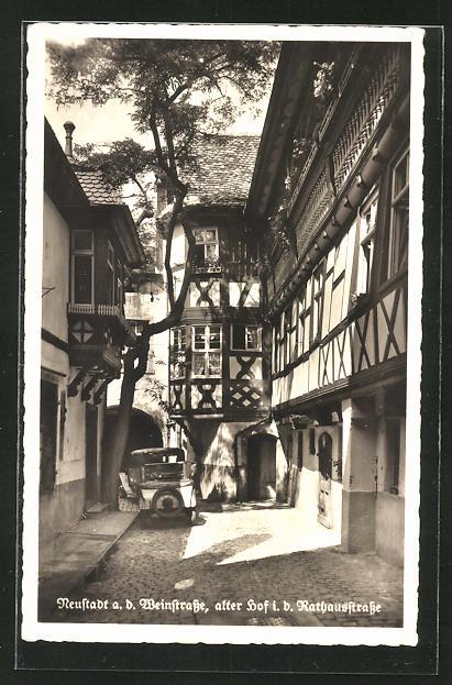 AK Neustadt, alter Hof in der Rathausstrasse 0