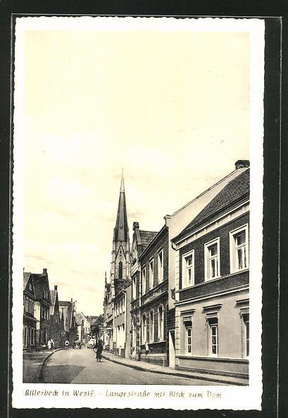 AK Billerbeck, Langestrasse mit Blick zum Dom 0