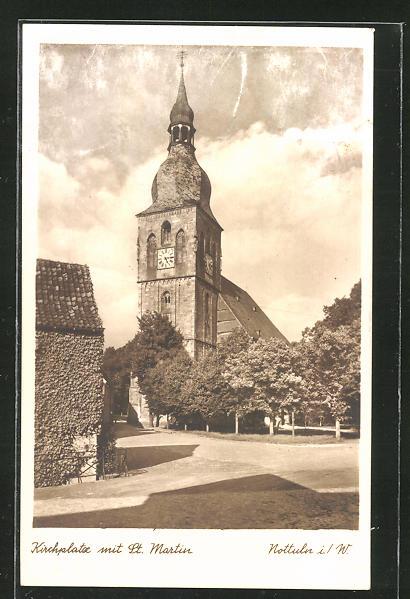 AK Nottuln, Kirchplatz mit St. Martin 0