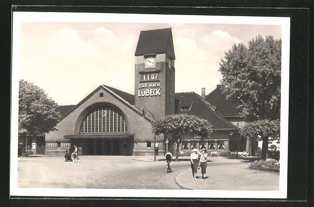 AK Lübeck-Travemünde, Partie am Strandbahnhof 0