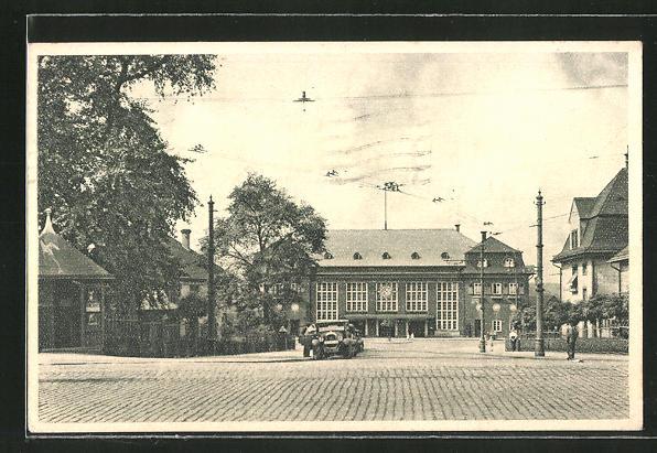 AK Neunkirchen-Saar, Partie am Bahnhof 0
