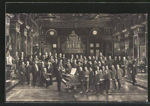 AK Memmingen, Sängerfest 1911, Gruppenbild der Teilnehmer 0