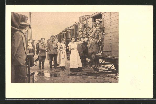 AK Neumünster, Bahnhofsdienst der Frauenhilfe, Verabschiedung der Soldaten 0