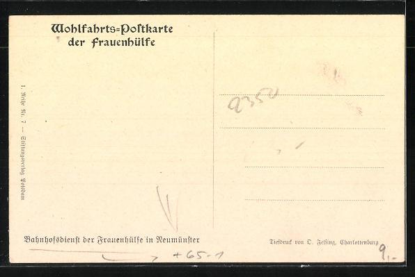 AK Neumünster, Bahnhofsdienst der Frauenhilfe, Verabschiedung der Soldaten 1