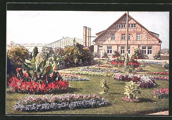 AK Fellbach, Vorgarten der Gärtnerei von Wilhelm Pfitzer 0
