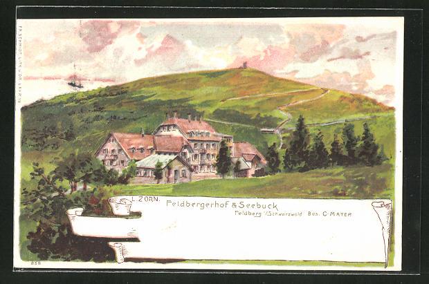 Künstler-AK Ludwig Zorn: Feldberg im Schwarzwald, Feldbergerhof und Seebuck