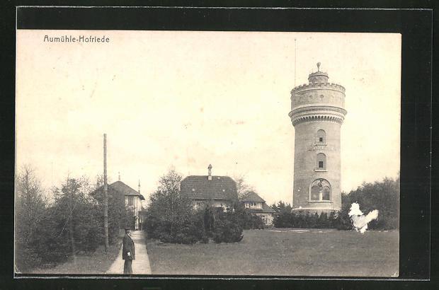 AK Aumühle-Hofriede, Partie am Wasserturm 0
