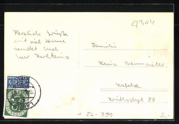 AK Laboe, Strandburgenprämierung 1953, Sandplastik 1