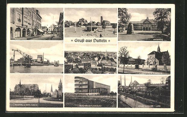 AK Datteln, Zeche Emscher-Lippe, Adolf Hitlerplatz 0