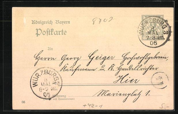 AK Würzburg, Maifest und Königsschiessen 1905 der Kgl. priv. Schützengesellschaft 1