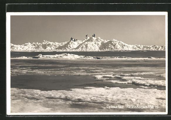 AK Ostseebad Kellenhusen, Aufgetürmte Eisberge am Strand 0