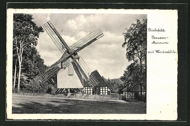 AK Bielefeld, Bauern-Museum mit Windmühle 0