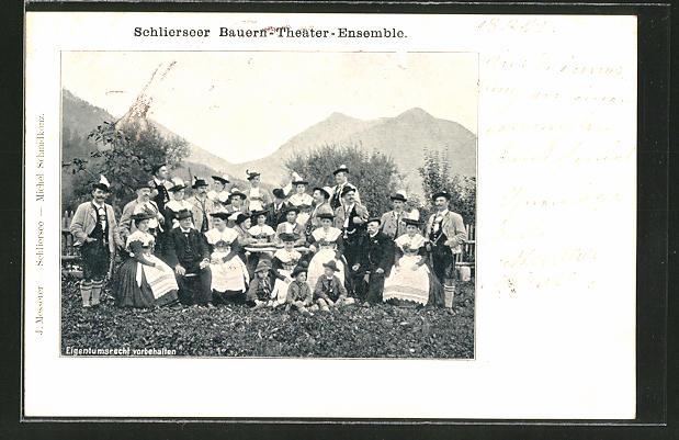 AK Schliersee, Schlierseer Bauern-Theater-Ensemble, Gruppenbild 0