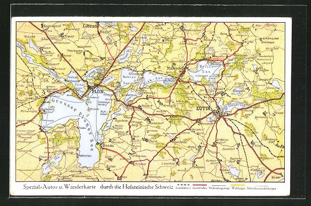 AK Plön, Landkarte der Holsteinischen Schweiz 0
