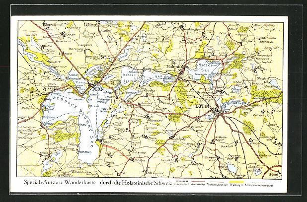 AK Eutin, Landkarte der Holsteinischen Schweiz
