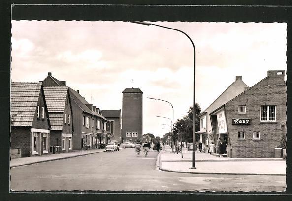 AK Nordhorn, Kino Roxy und Elisabethkirche, Gildehauserweg 0