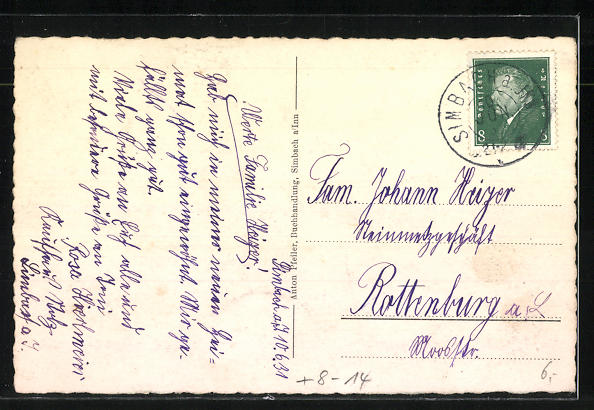 AK Simbach / Inn, Grenzübergang Reichssbrücke nach Österreich 1