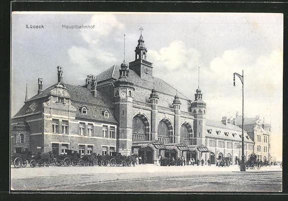 AK Lübeck, Strasse am Hauptbahnhof 0
