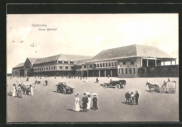 AK Karlsruhe, Partie am neuen Bahnhof 0