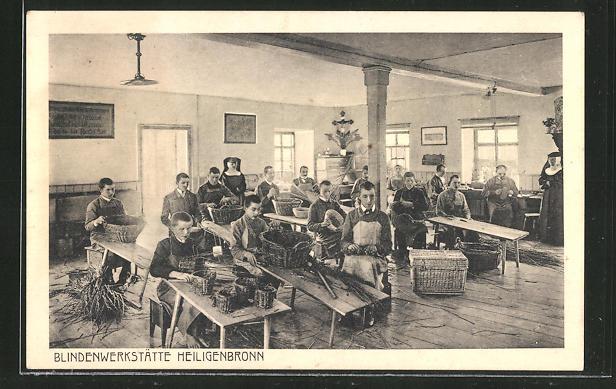 AK Heiligenbronn, Arbeiter in der Blindenwerkstätte 0