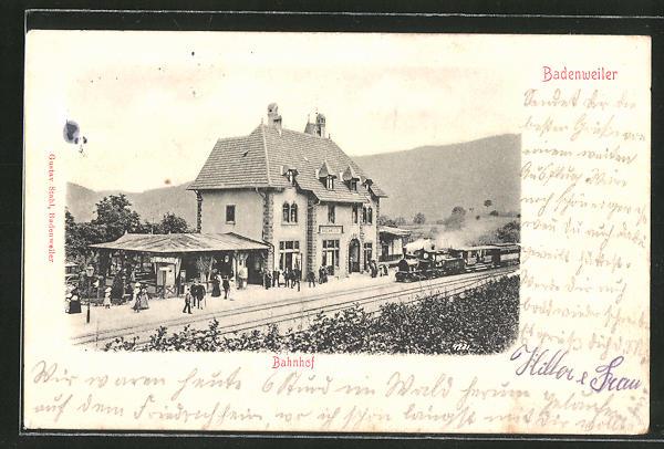 AK Badenweiler, Blick zum Bahnhof 0