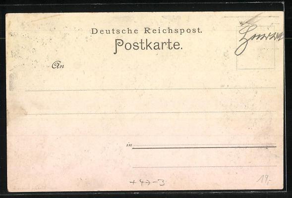 Künstler-AK Mannheim, Abiturienten-Commers 1901, Student mit Reifezeugnis Realgymnasium 1