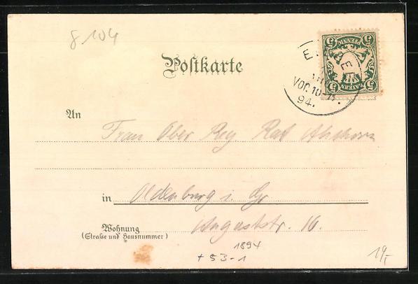 Vorläufer-Lithographie Eibsee / Oberbayern, Blick zum Gasthof und Villa Eibsee, 1894 1