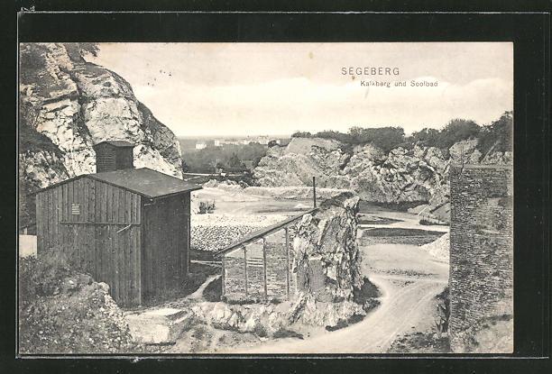 AK Segeberg, Blick auf Kalkberg und Soolbad 0