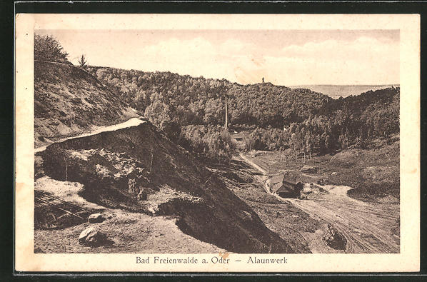 AK Bad Freienwalde, Steinbruch und Alaunwerk aus der Vogelschau 0