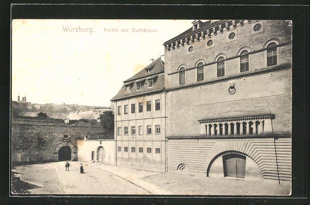AK Würzburg, Portal am Zuchthaus 0