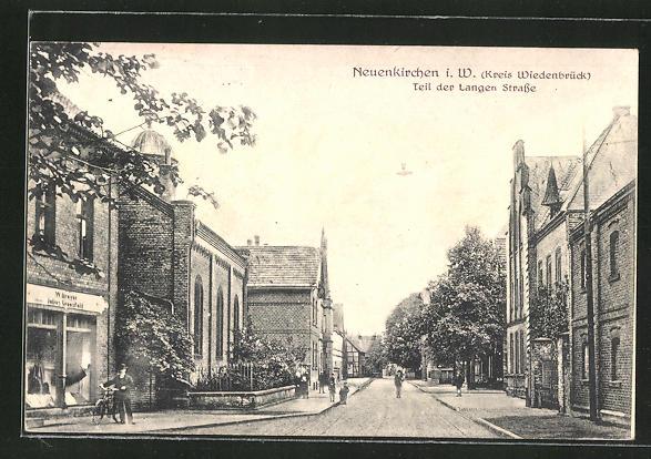 AK Neuenkirchen i.W., Synagoge in der Langen Strasse 0